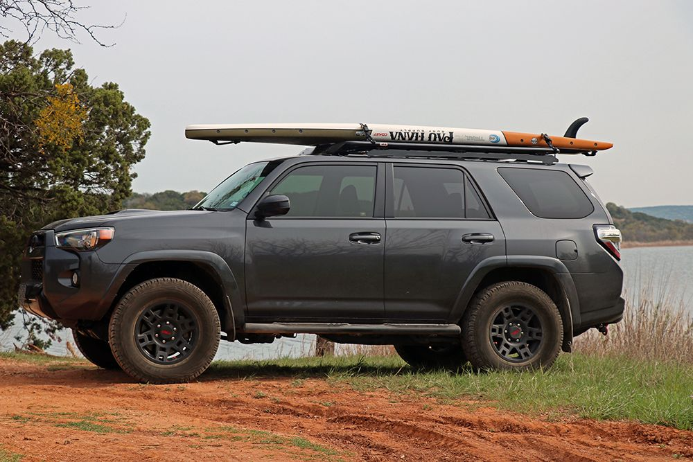 ARB Flat Alloy Rack Review on the 5th Gen 4Runner Fence