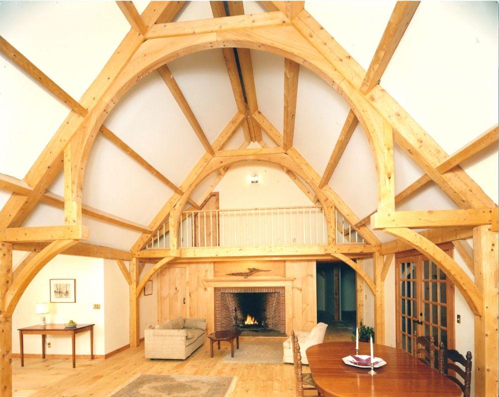True hammer beam design for the home pinterest for Exposed beam house plans