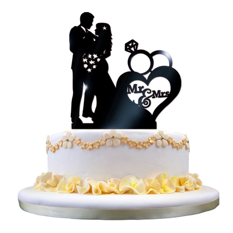 Acrylic cake decoration leewa acrylic wedding cake topper