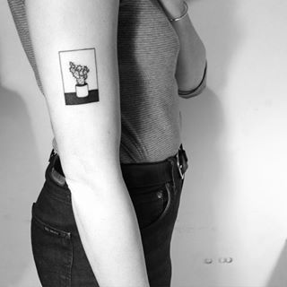 cactus tattoo black and white - Google Search