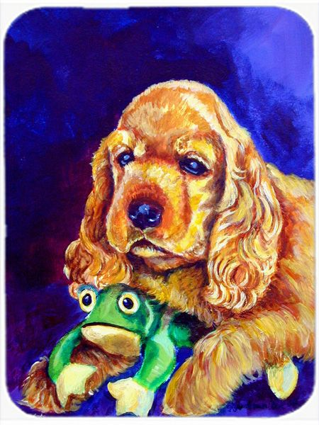 Cocker Spaniel with Frog Mouse Pad - Hot Pad or Trivet 7342MP #artwork #artworks