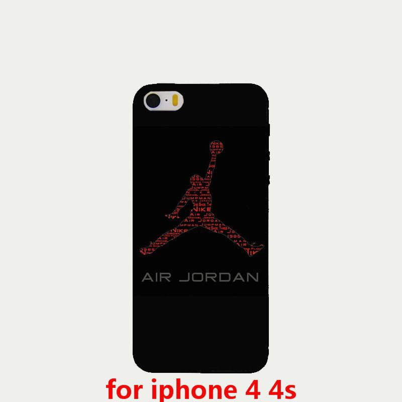 Fashion sports brand Jordan logo phone cases for Apple iPhone 4 4s 5 5s case high-quality plastic hard cover