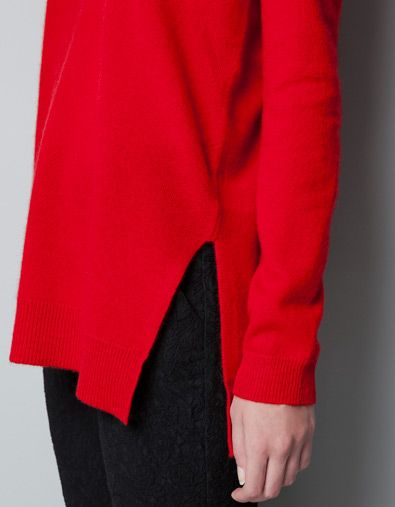 LONG CASHMERE SWEATER - Knitwear - Woman - ZARA
