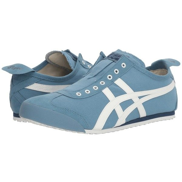 Onitsuka Tiger by Asics Mexico 66(r) Slip-On (Blue Heaven/White) Shoes  found on Polyvore featuring polyvore, women's fashion, shoes, blue slip on  shoes, ...