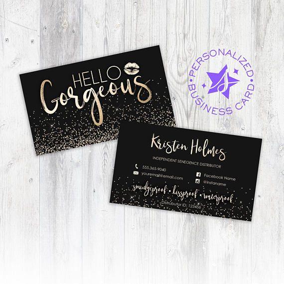 Lipsense Business Card, Personalized Business Card, Lipsense Card - lipsense business card