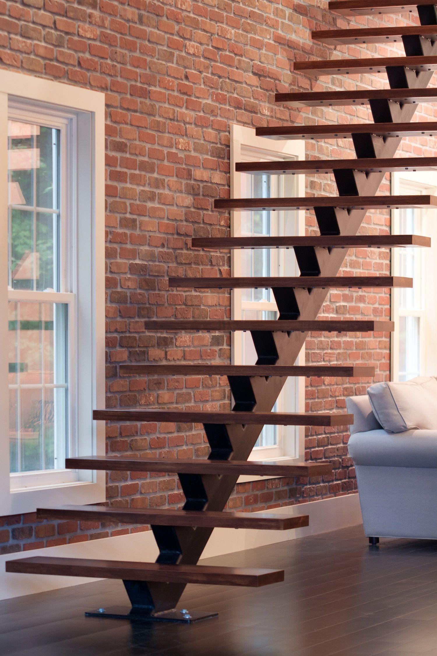 Residential Monostringer Floating Stair Me Floating Stairs Stairway Design Stairs Design