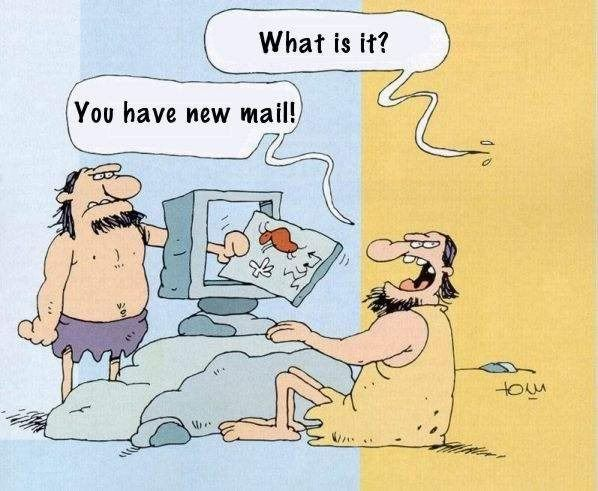 Enjoy your weekend from the team @MadSlug. #funfriday #stoneage #email |  Coffee can crafts, Funny cartoon images, Buy coffee beans