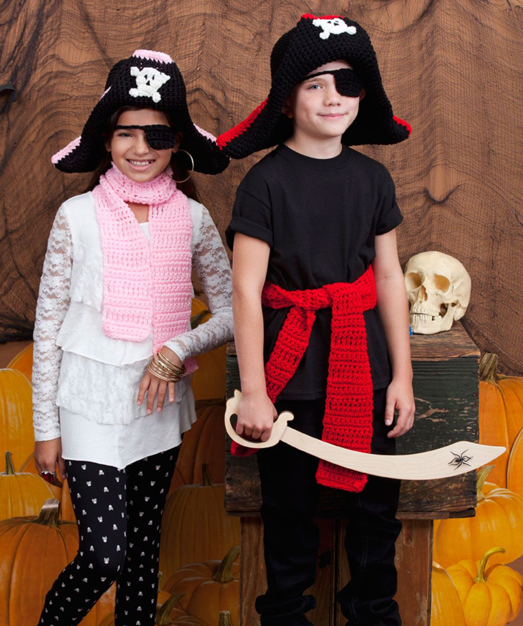 Pirates are one of the most popular costumes both boys and girls childs pirate costume free crochet pattern from red heart yarns bankloansurffo Image collections