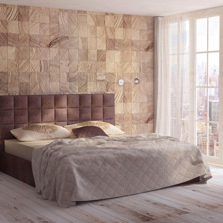 Sypialnia Wykończona W Ciepłych Tonach Brązu I Beżu Na