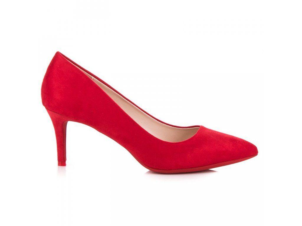 25c7ceb7c4bcc Dámske červené lodičky na opätku Milaya | Lodičky - NAJ.SK | Shoes ...