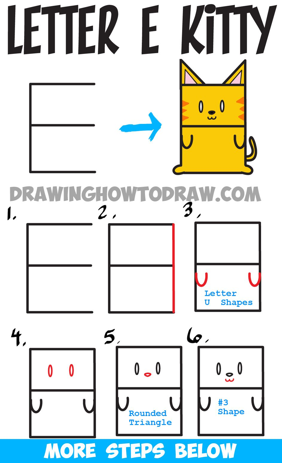 9 Letter Cartoon Characters : Learn how to draw a cartoon kitty cat from uppercase