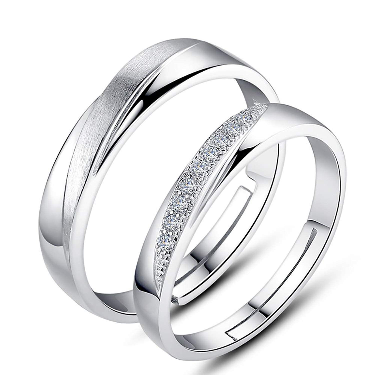 Tidoo Jewelry 1pair/lot Frosted Engagement Intersection