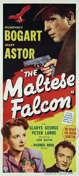 The Maltese Falcon 1941 Bogart Movies Old Movie Posters Movie Posters Vintage