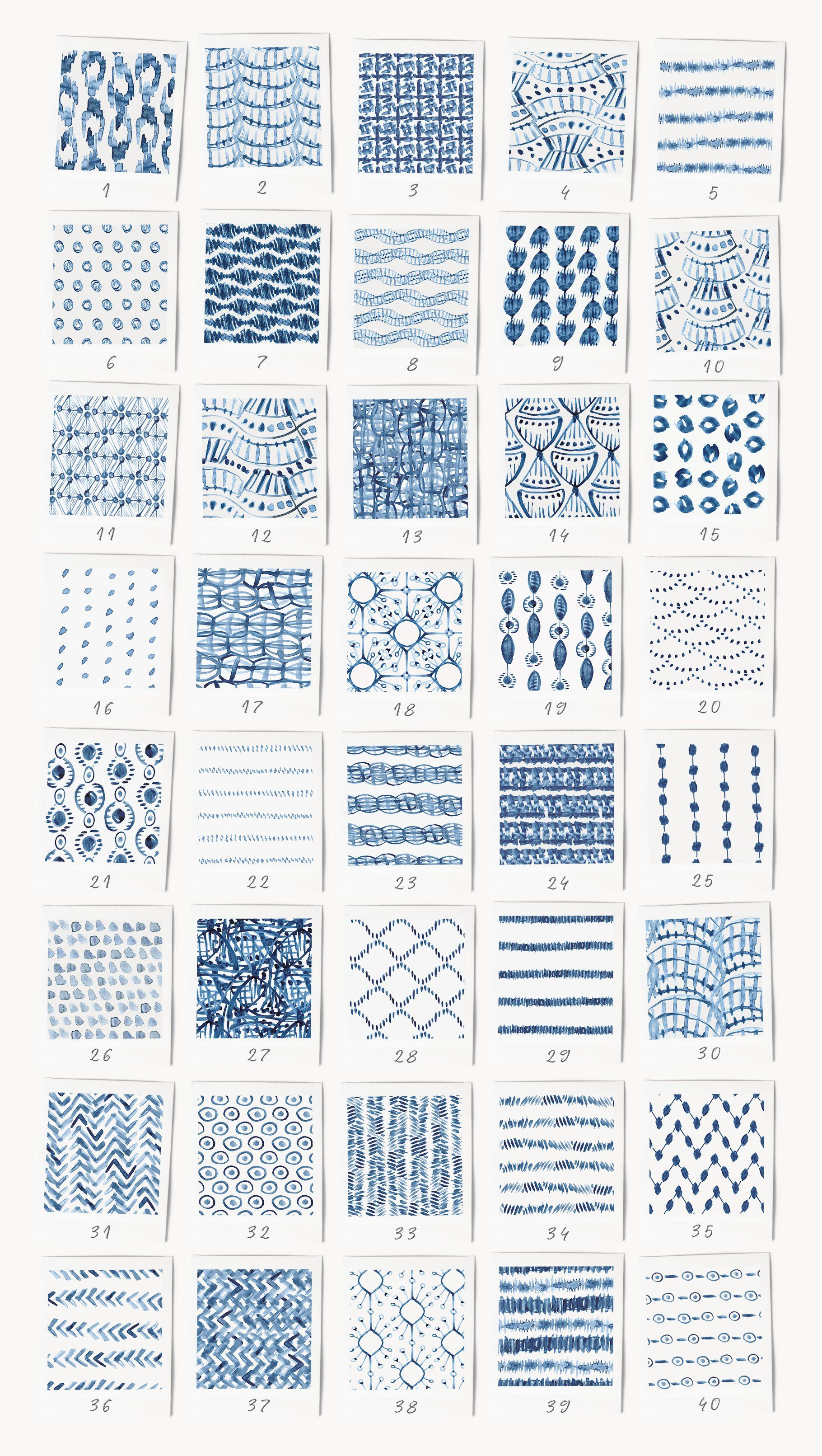 80 Indigo Blue Watercolor Patterns In 2020 Watercolor Pattern