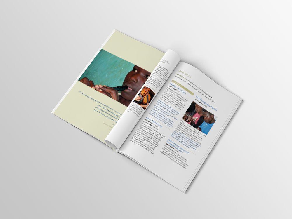 Yale AlumniVentures Anniversary Brochure Granite Bay Graphic Design