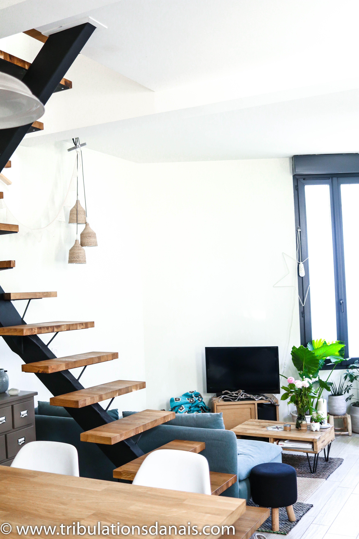 Escalier Design Fer Et Bois Escalier Ouvert Escalier Loft Escalier  # Meuble Tv Escalier Bois