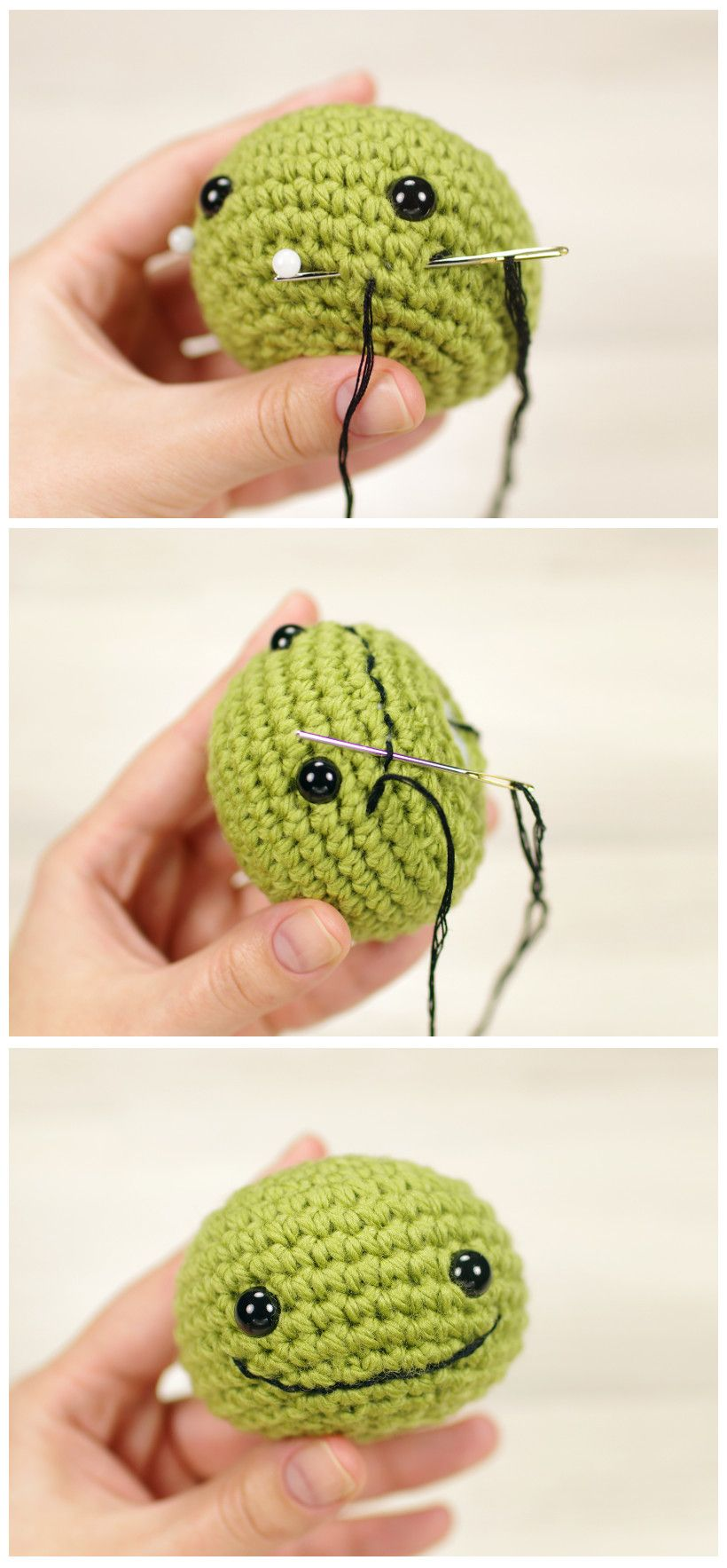 How To Embroider An Amigurumi Smile  Tutorial