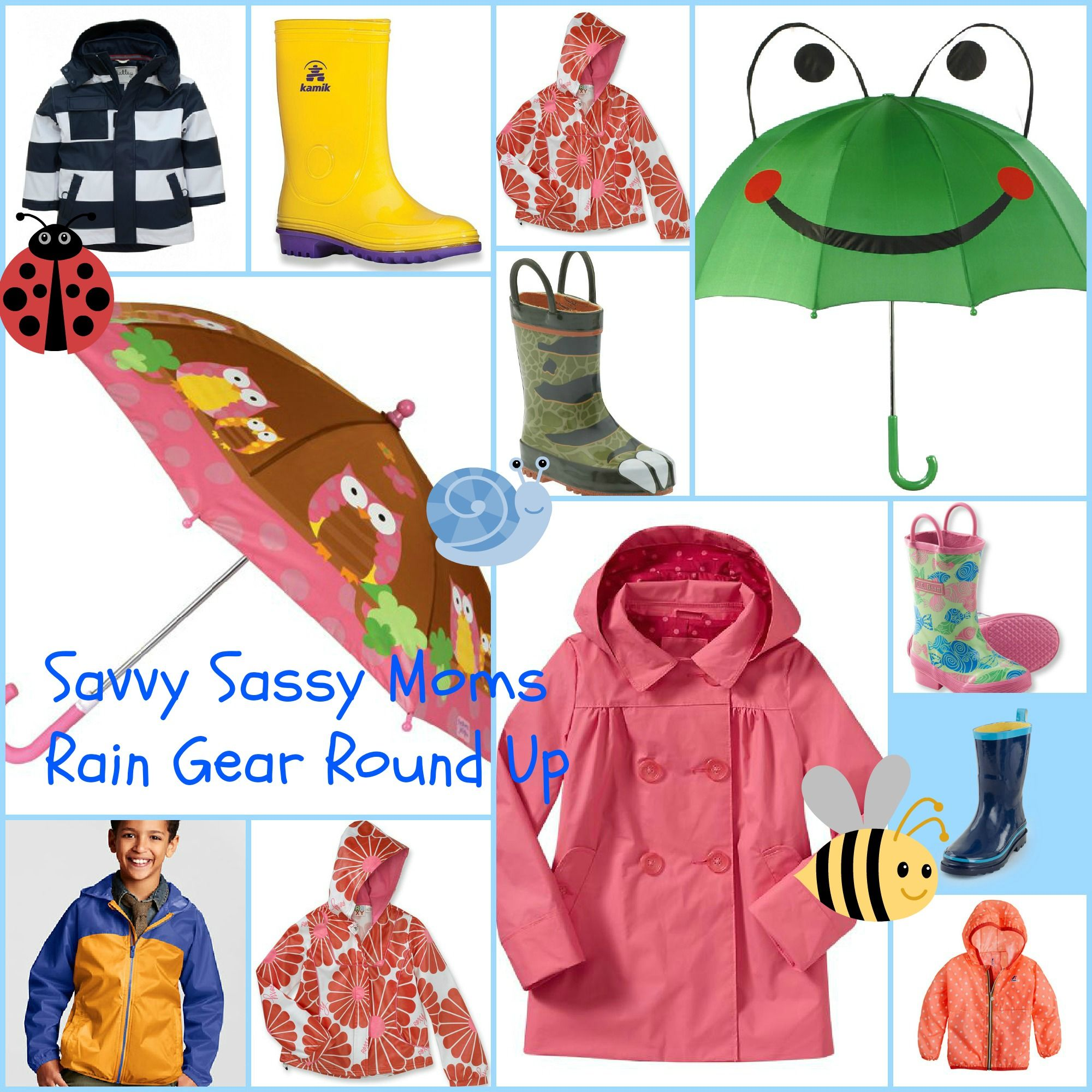 Cute Kids Rain Gear   #GirlsClothes