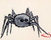 Hairy Legged Love- Spider Watercolor- Tonia Klein