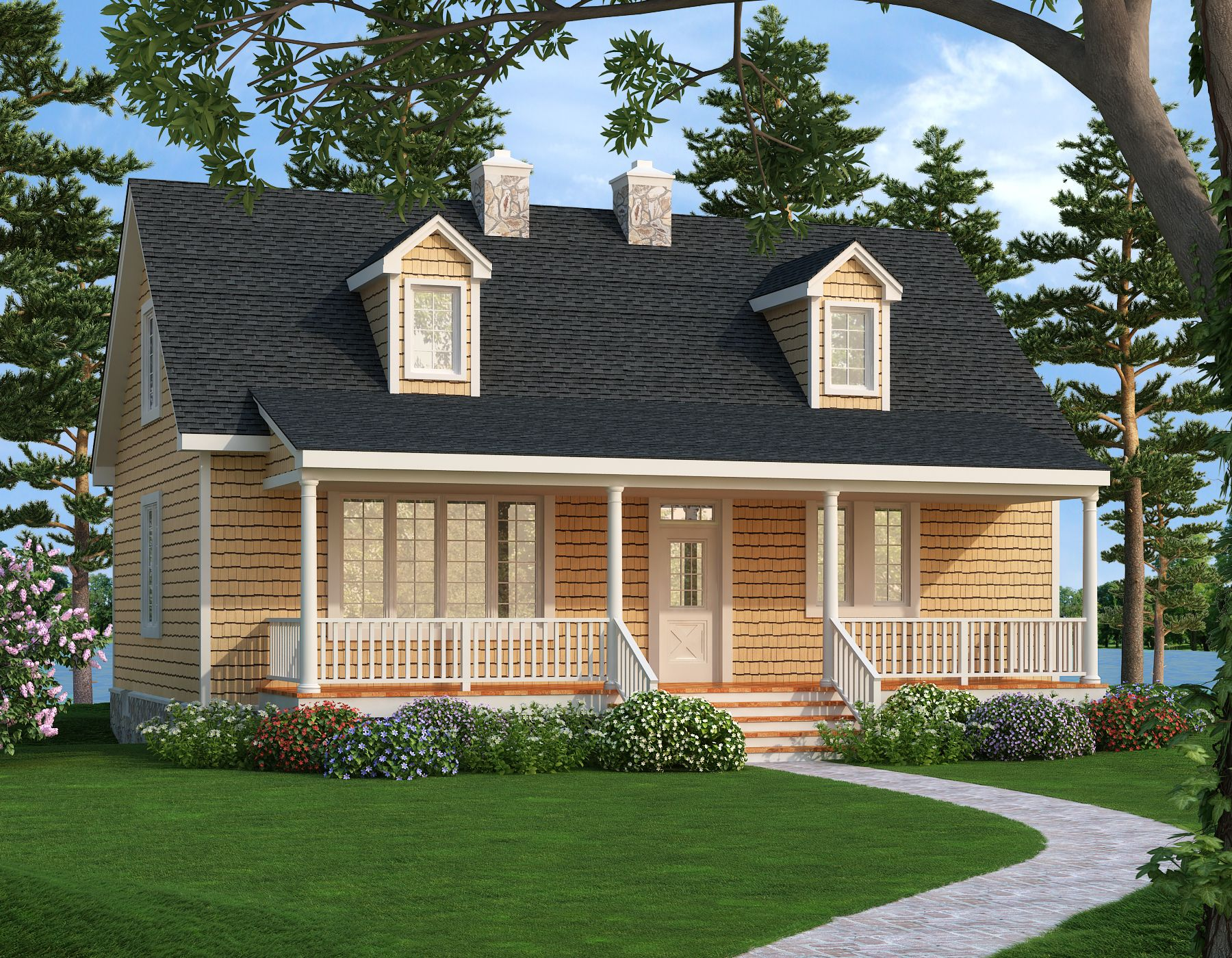 Country Style House Pla 2804 Lakeview Rustic House Plans Country Style House Plans House Plans