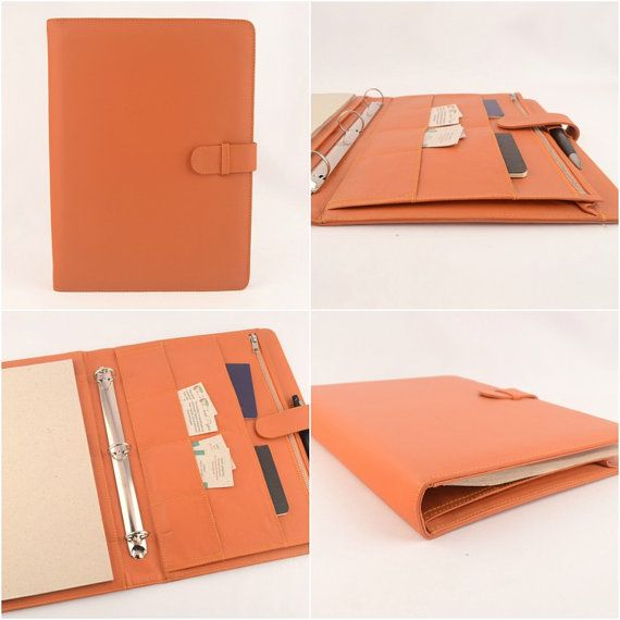 A4 Leather Ring Binder PadFolio 3 Ring. Left Handed. By