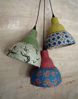 Try Making Papier Mache Light Shades From Vintage Or Japanese Paper They Are Great To Use Over Large Outdoor Stri Lampe En Papier Abat Jour Papier Objet Deco
