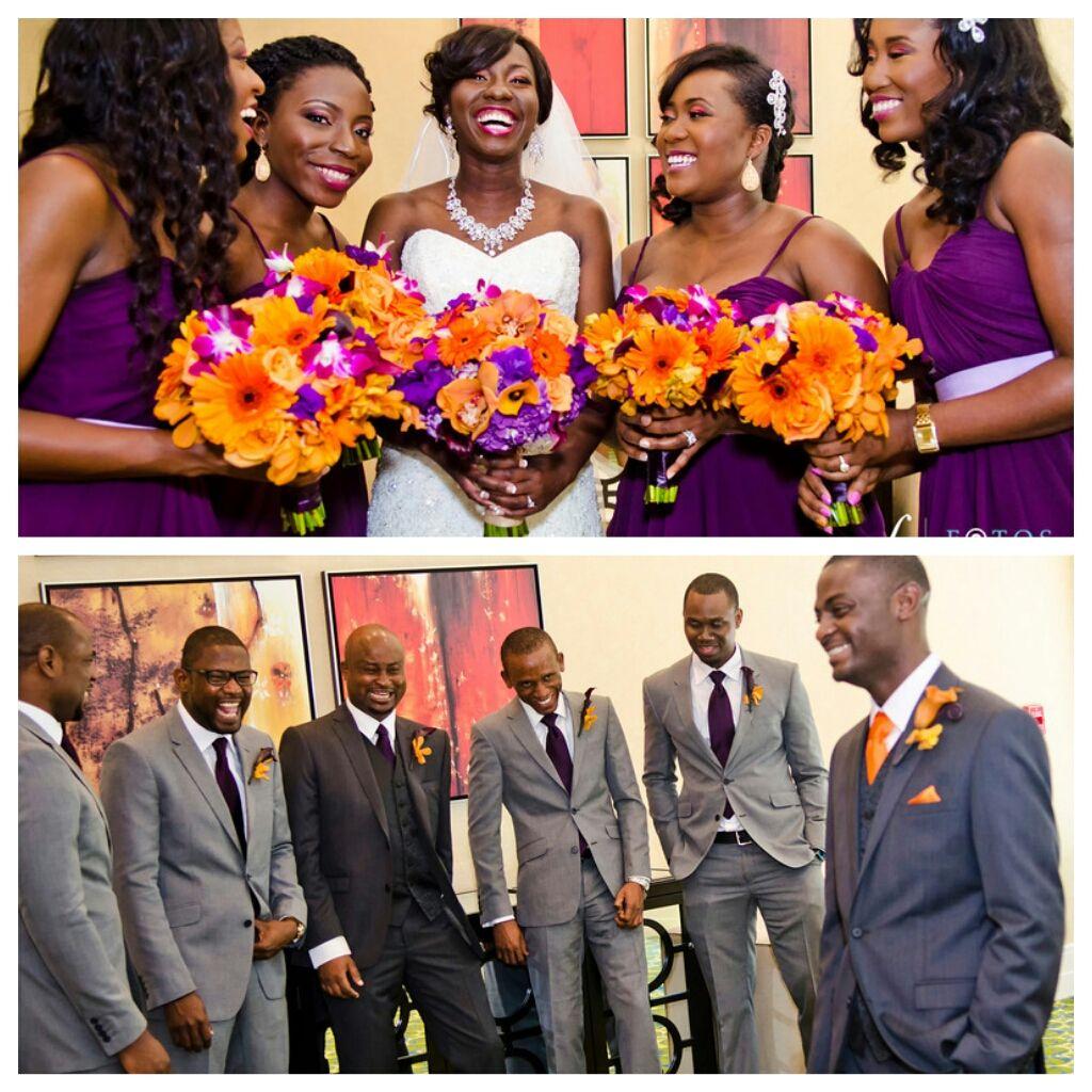 My Nigerian Wedding: Nigerian Wedding Bridal Part Purple And Orange... My