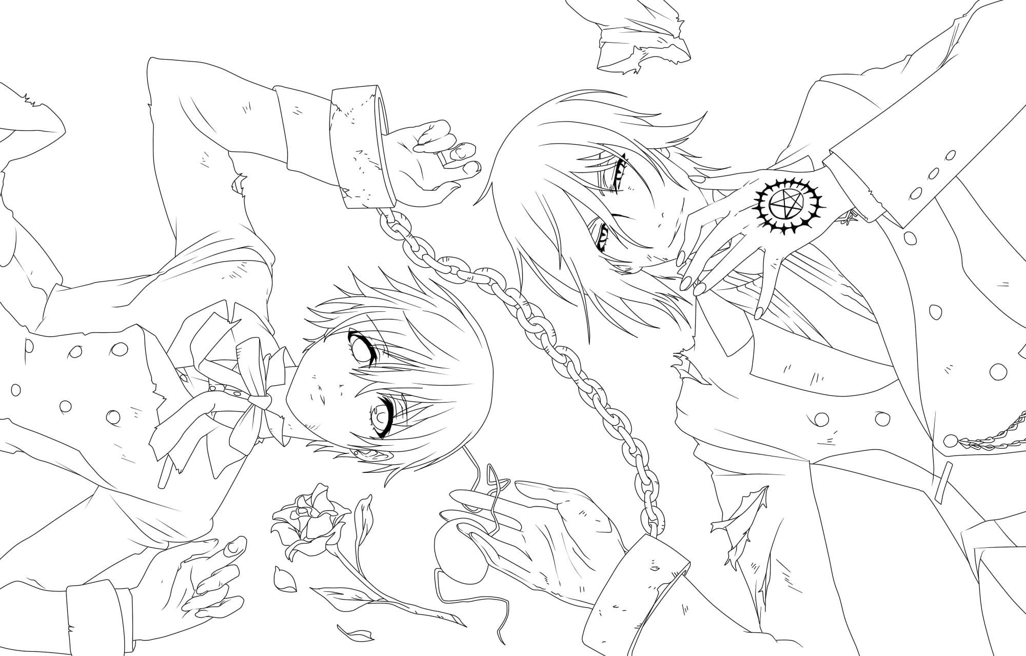 Lineart Kuroshitsuji By Piko Chan4ever On Deviantart In 2020 Coloring Pages Cool Coloring Pages Cute Coloring Pages