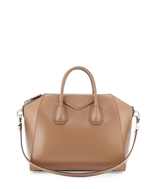38d59bc2d669c Antigona Medium Box Calf Satchel Bag Dark Beige | BAGS | Givenchy ...