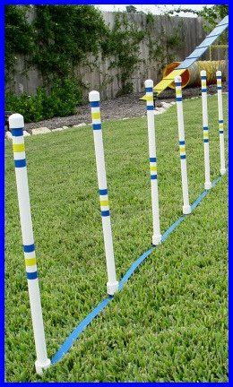 Dog Agility Stick In The Ground Outdoor Weave Poles Set Of 6 Click Image To Review More Details This Is An Affiliate Link And I Receive A Commission
