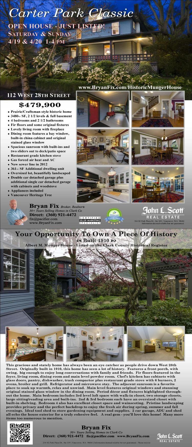 Sat Sun Open House Real Estate For Sale 479 900 4 Bdrm 2 5