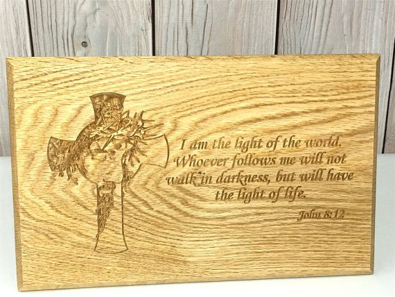Bible Verse Art, Inspirational Wooden Signs, Engraved Wood Signs ...