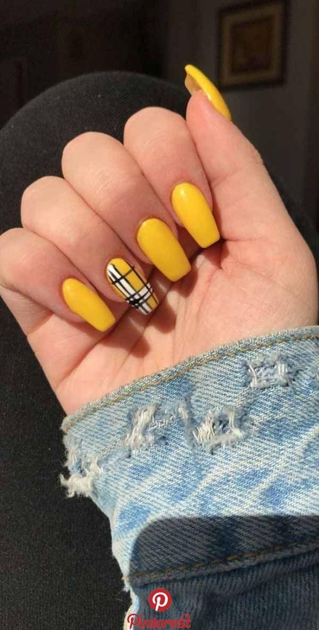 5 Amazing Yellow Nail Art Designs Color Combos for 2019 : Take a look! If you | yellow nails spring color combos #Amazing #ART #Color #COMBOS #Designs #NAIL #yellow