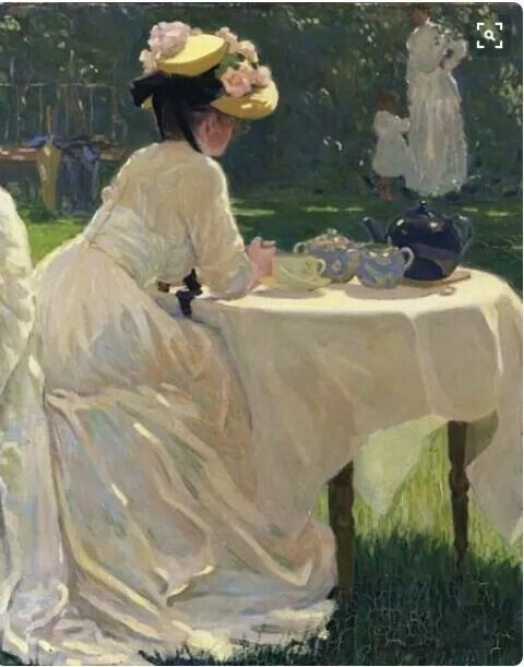 Frederick F. Fursman, In the garden, 1909, oil on canvas