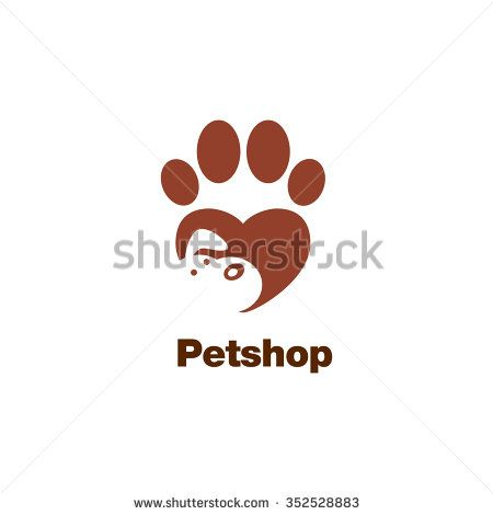 Paw Logo Template Animal Day Care And Pet Shop Stock Vector
