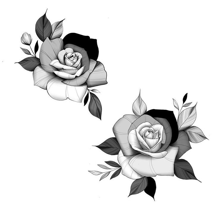 Tren Instagram Rose Flow Some Roses That Follows The Flow Your Body What Placement Do You Think Floral Drawing Rose Tattoo Design Rose Tattoos
