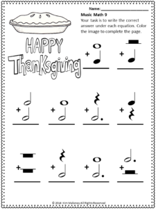 Thanksgiving Resources for Music Classes | Math worksheets ...