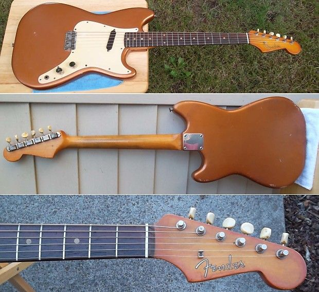 Volume and Tone Pot Dates: 137-847 = 1958 Capacitor:Astron USA = 1958 Neck Date: 1-59 = 1959 Plate: 39581 = 1959 Deluxe tuners Clay dots markers Alnico Pickups 58' Bridge Fender Straplocks Complete screws Pickguard, plate and all components are original Body and neck all original no routing or added screws Hard case is original. on latch doesnt work All that I mentioned in the top are all original 1958 Fender guitar and equipment wood condition with no added cut or drill. ...