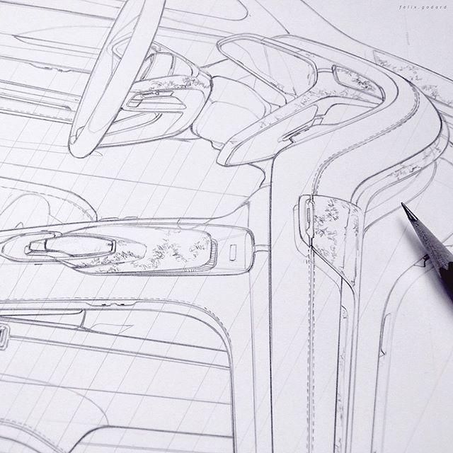 ariel sketch car interior design