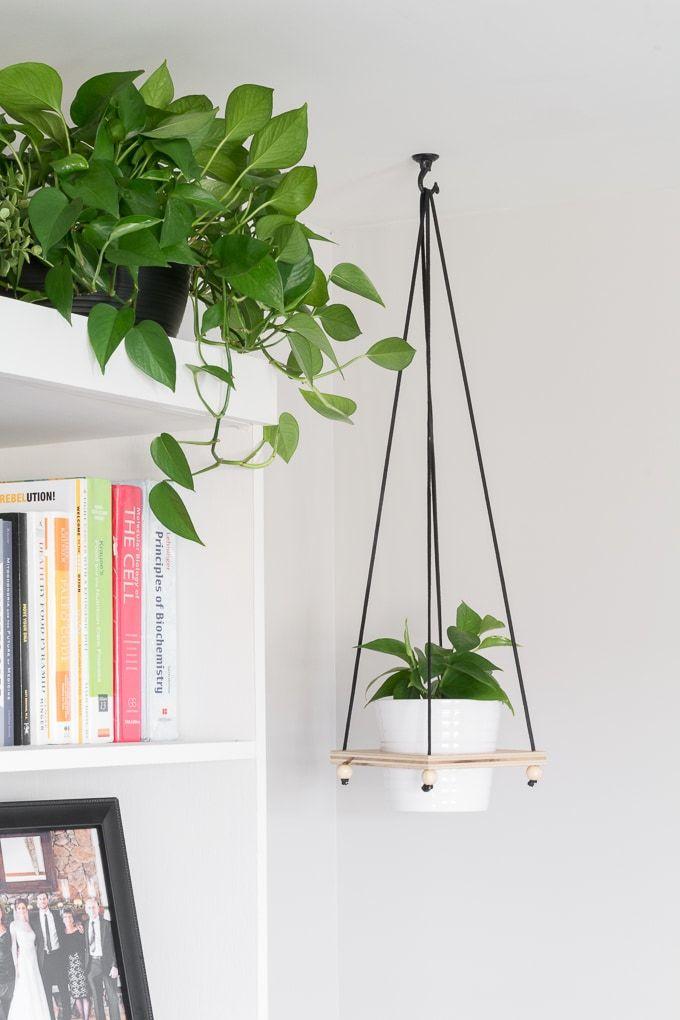 DIY Hanging Plant Holder Make a Wooden Hanging Plant Pot Holder – Hanging plant holder