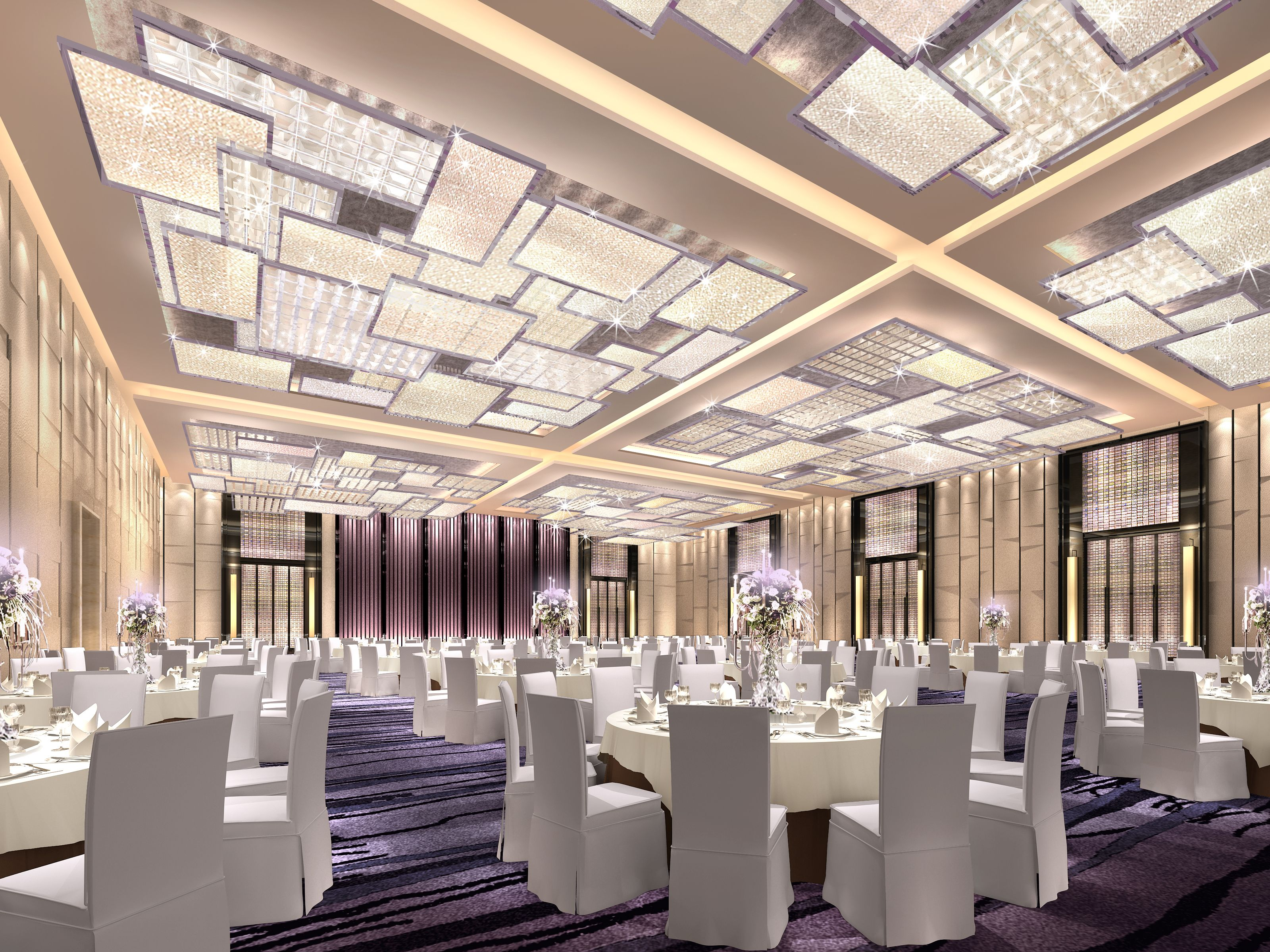 Langham hotel grand ballroom venus private function for Hotel ceiling design