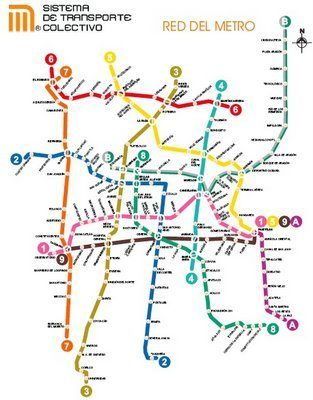 Mexico City Metro Subway Station Map Quilting Hand Quilting