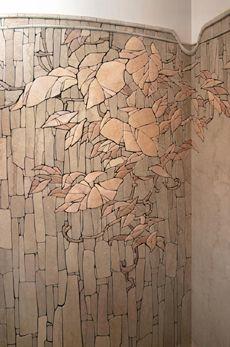 central part mosaic composition radiused walls. Interior - Sergei Karlov