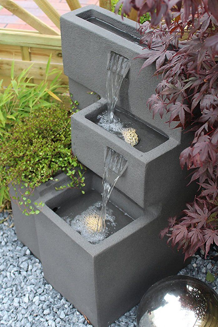 springbrunnen grada bepflanzbar mit led beleuchtung wasserfall gartenbrunnen kaskade. Black Bedroom Furniture Sets. Home Design Ideas
