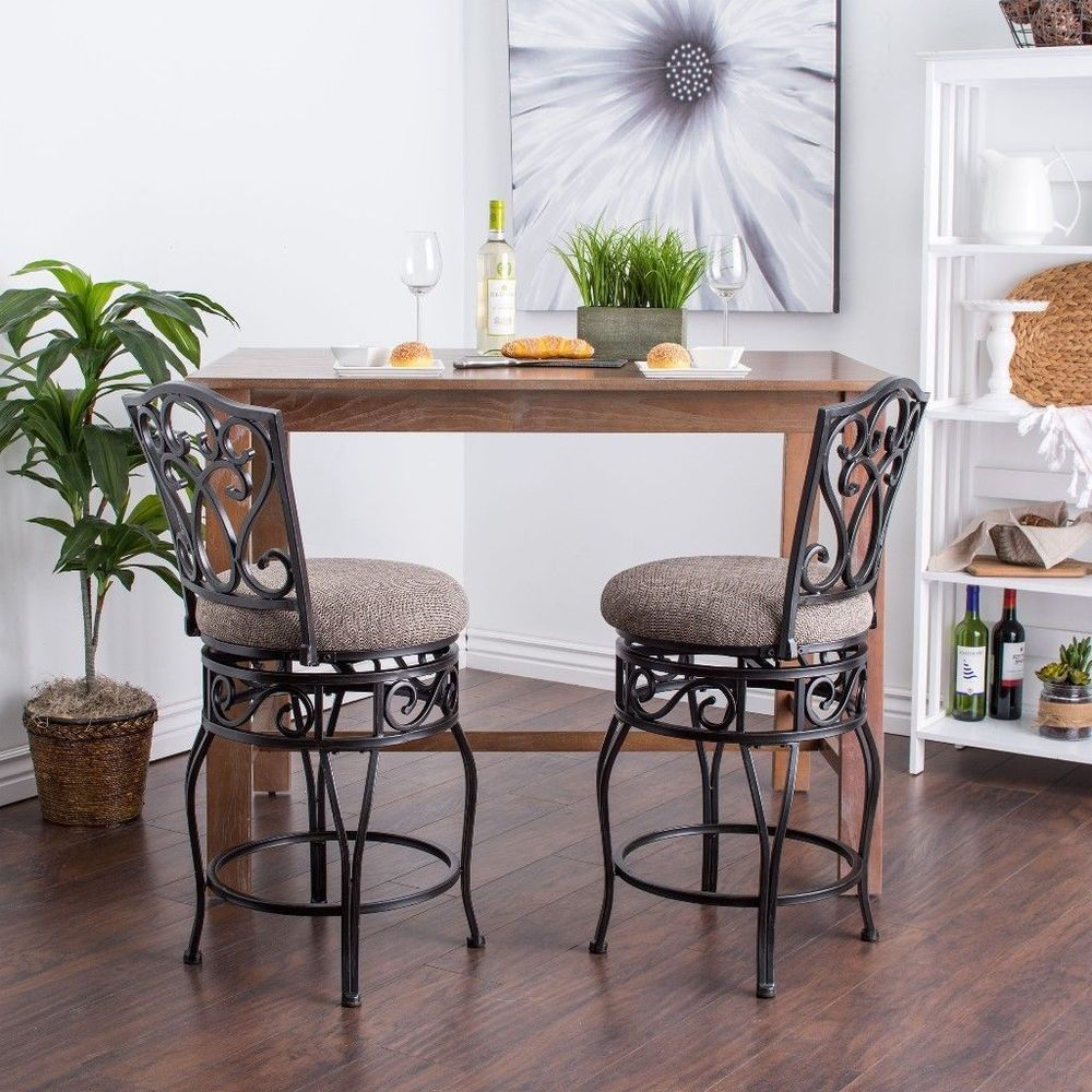 24 Inch Swivel Counter Stools Set Of Two Unique Home Bar Furniture #stools