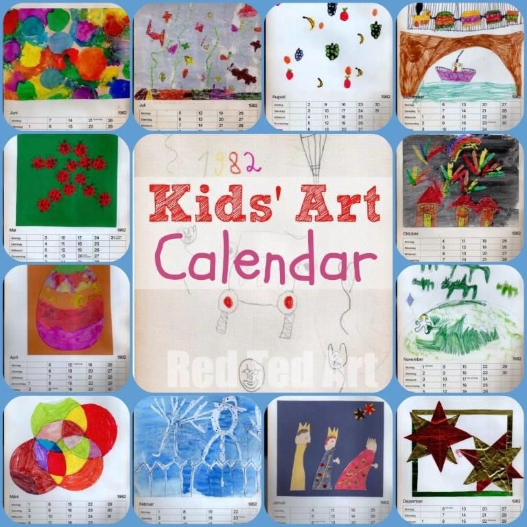 Kids Art Calendar Gifts That Kids Can Make Red Ted Art Make Crafting With Kids Easy Fun Art For Kids Calendar Ideas For Kids To Make Christmas Gifts For Kids