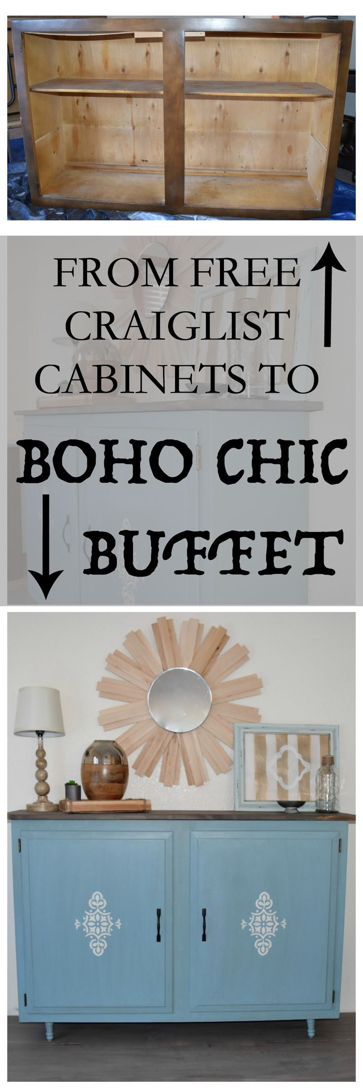 How To Upcycle Old Kitchen Or Laundry Cabinets Turn Old Cabinets Into A Console Buffet Or Side Table R Furniture Makeover Diy Room Storage Diy Upcycle Decor