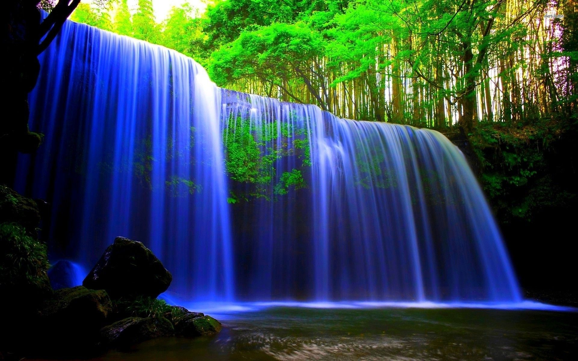 blue waterfalls Google Search Water live wallpaper