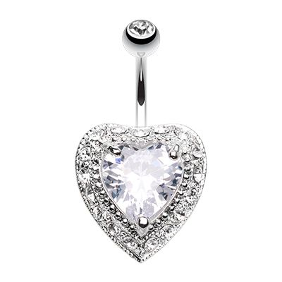 The Sentiment Heart Belly Bar Vintage Romance Navel Rings Find It At Www