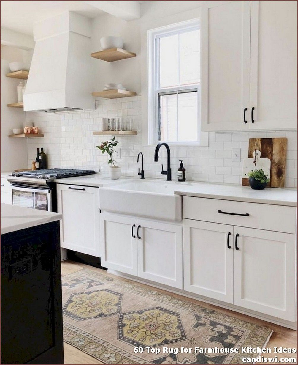60 Top Rug For Farmhouse Kitchen Ideas 3 In 2020 White Kitchen Design Farmhouse Sink White Kitchen Decor